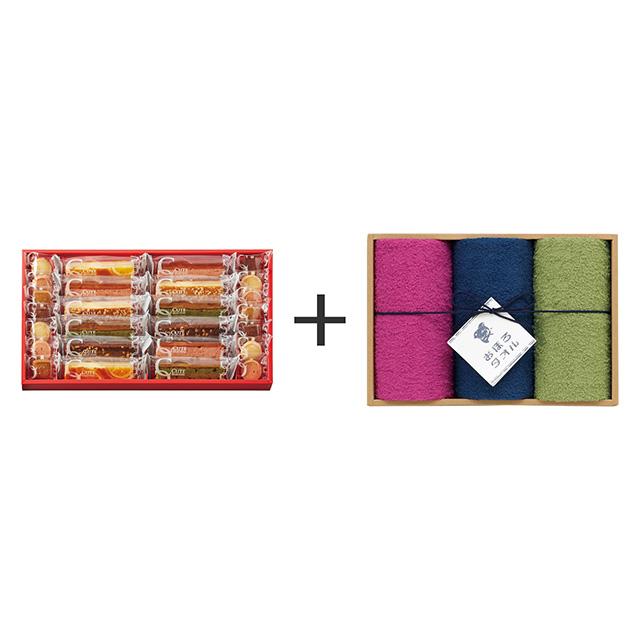ひととえ ひととえ キュートセレクション+おぼろ日本の伝統色 浴用タオル3枚セット