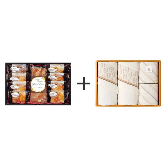 ガトー・デリシュー ガトー・デリシュー 焼菓子9個詰合せ+今治のタオル4枚セット
