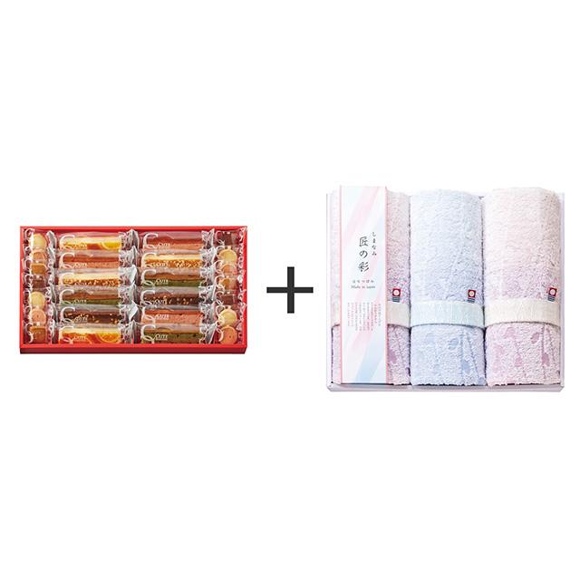 ひととえ ひととえ キュートセレクション+しまなみ匠の彩 花つぼみフェイスタオル3枚セット