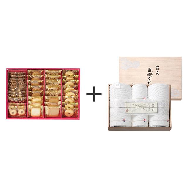 ラミ・デュ・ヴァン・エノ 焼菓子8種38袋詰合せ+今治謹製 白織タオル タオル4枚セット メイン画像