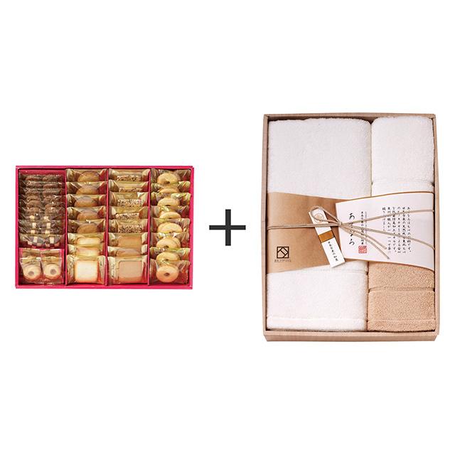 ラミ・デュ・ヴァン・エノ ラミ・デュ・ヴァン・エノ 焼菓子8種38袋詰合せ+あすなろ タオル3枚セット