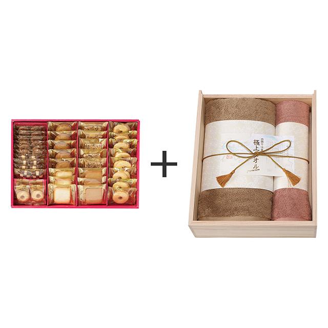 ラミ・デュ・ヴァン・エノ ラミ・デュ・ヴァン・エノ 焼菓子8種38袋詰合せ+今治謹製 極上タオル タオル2枚セット