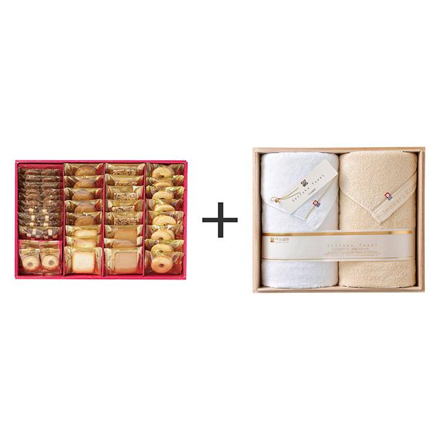 ラミ・デュ・ヴァン・エノ ラミ・デュ・ヴァン・エノ 焼菓子8種38袋詰合せ+今治謹製 至福タオル バスタオル2枚セット