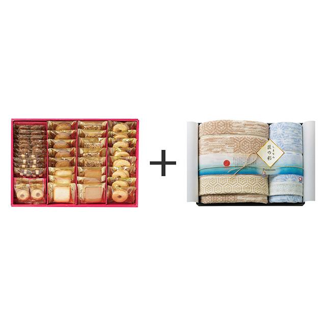 ラミ・デュ・ヴァン・エノ ラミ・デュ・ヴァン・エノ 焼菓子8種38袋詰合せ+しまなみ匠の彩 タオル2枚セット
