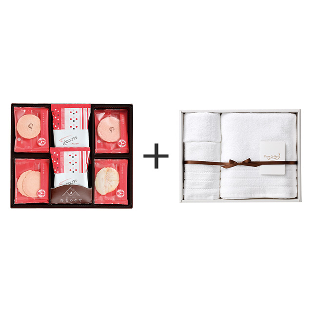 志ま秀 志ま秀 海老菓子48袋入+マイクロコットン タオル3枚セット