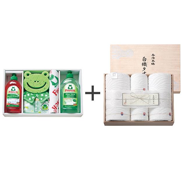 フロッシュ キッチン洗剤ギフト+今治謹製 白織タオル タオル4枚セット メイン画像