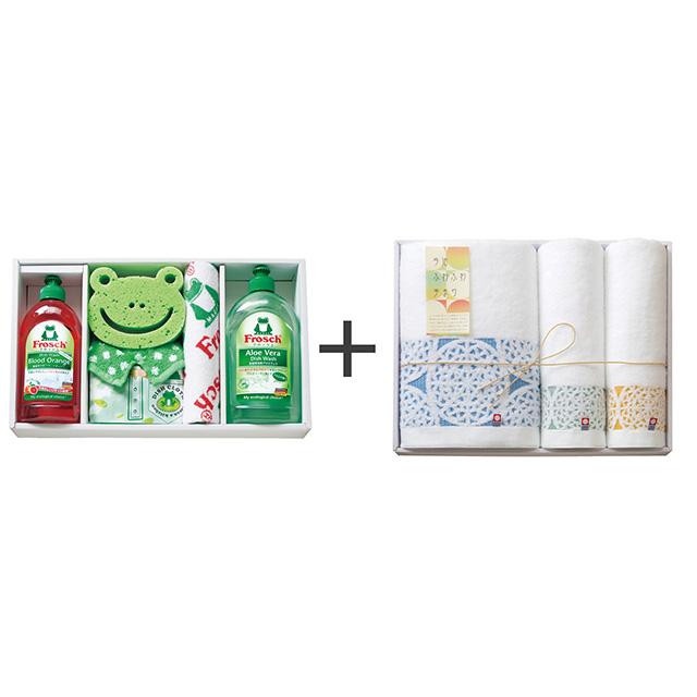 フロッシュ キッチン洗剤ギフト+今治ふわふわ手まり タオル3枚セット メイン画像