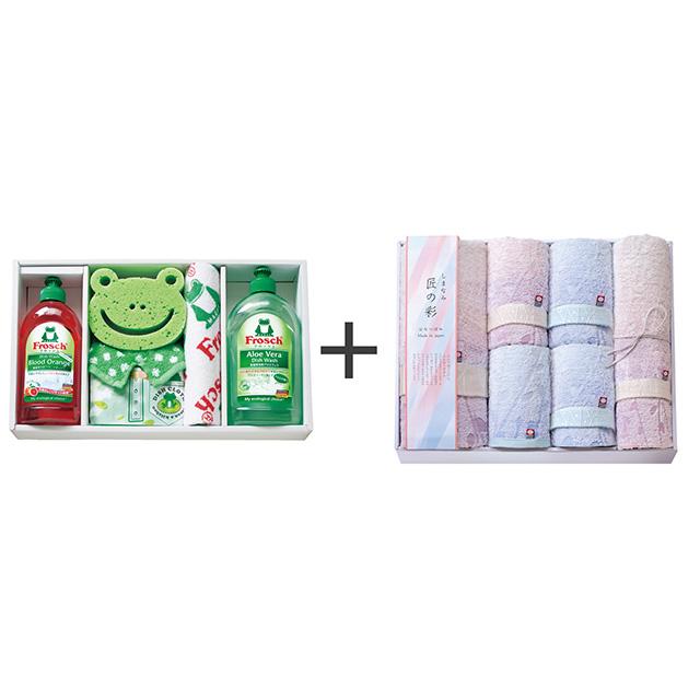 フロッシュ キッチン洗剤ギフト+しまなみ匠の彩 花つぼみ タオル6枚セット メイン画像