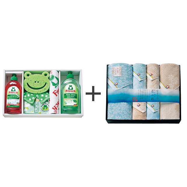 フロッシュ キッチン洗剤ギフト+しまなみ匠の彩 タオル6枚セット メイン画像