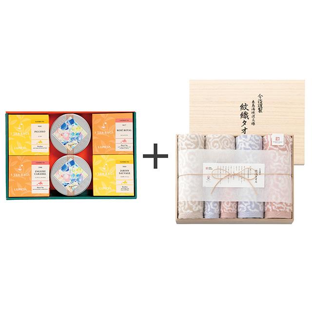 ルピシア ゼクシィオリジナルティーセット+今治謹製 紋織タオル タオル6枚セット メイン画像