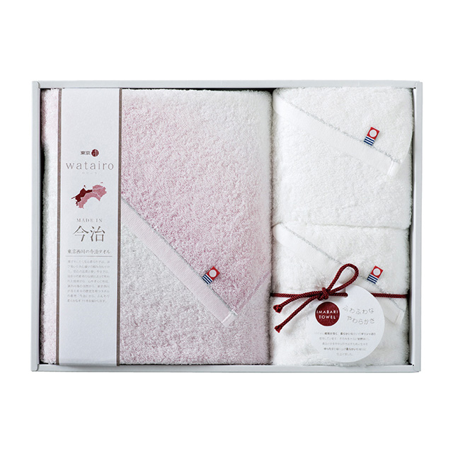 わたいろ タオル3枚セット ピンク メイン画像