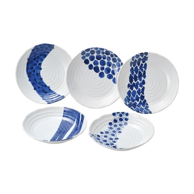 インディゴ カレー&パスタ皿セット メイン画像