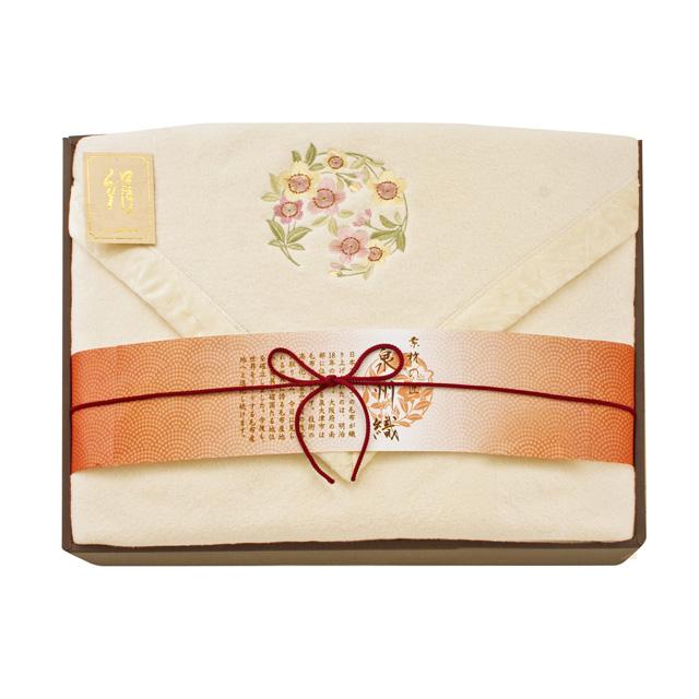 素材の匠 泉州織 四方額シルク混綿毛布(毛羽部分) メイン画像