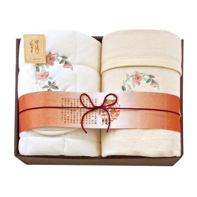 素材の匠 泉州織 シルク混毛布&シルク混敷パッド(毛羽部分) メイン画像