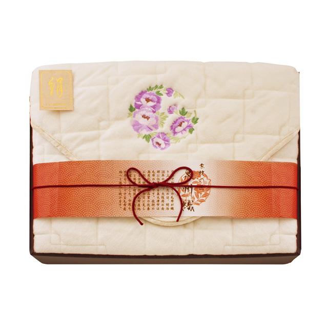 素材の匠 泉州織 シルク敷パッド(毛羽部分) メイン画像