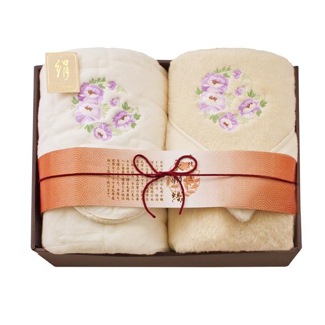 素材の匠 泉州織 シルク毛布(毛羽部分)&シルク敷パッド