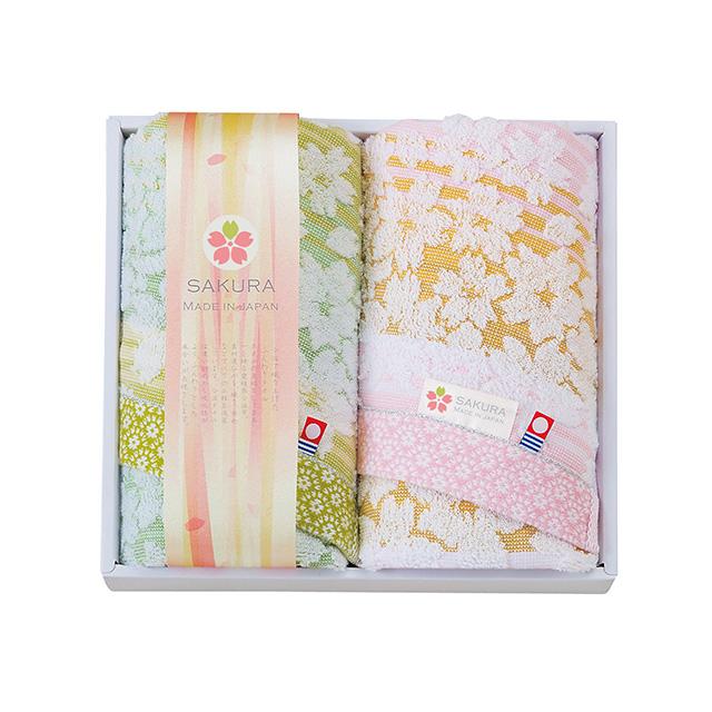 しまなみ 匠の彩 白桜 フェイスタオル2枚セット メイン画像