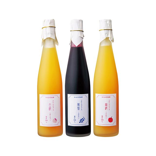 たかはた果樹園 国産 ジュース3本セット メイン画像