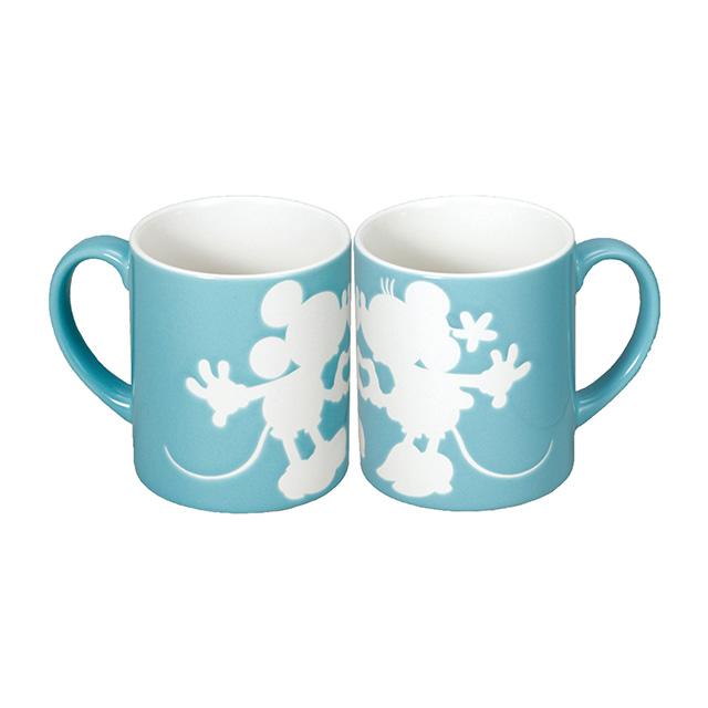 DISNEY ミッキー&ミニー ペアマグカップ ブルー
