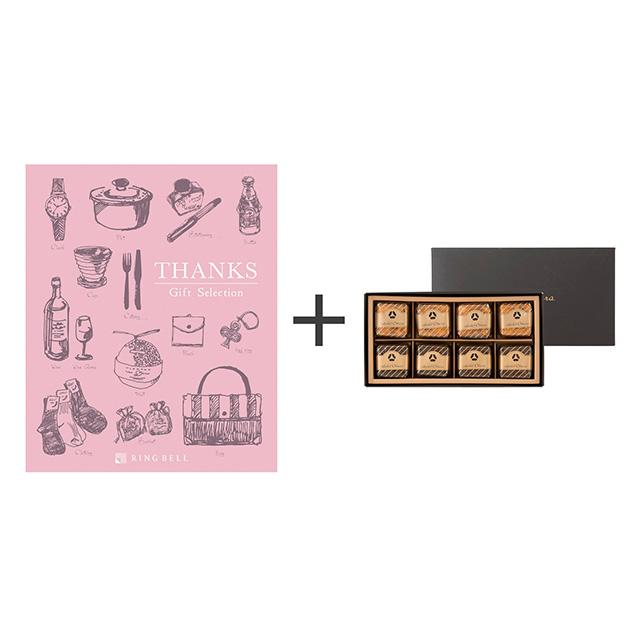 ホテルオークラ ホテルオークラ フルーツ&チョコレートケーキ+カタログ式ギフト サンクス ホイップピンク