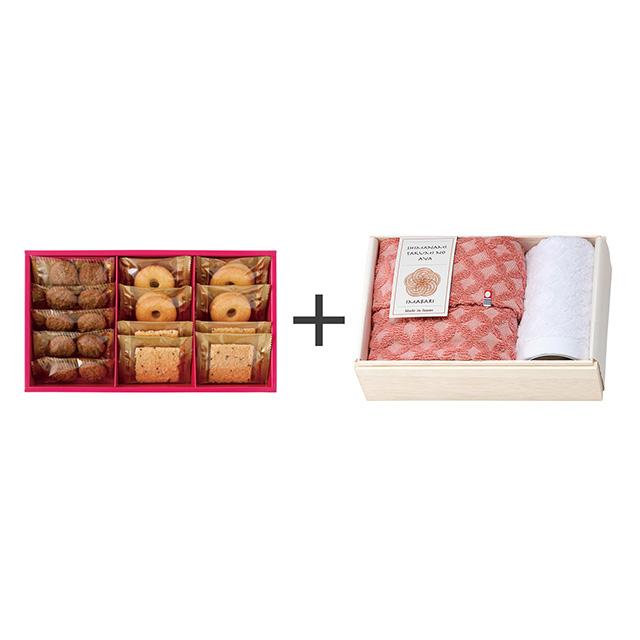 ラミ・デュ・ヴァン・エノ 焼菓子3種詰合せ+しまなみ匠の彩 祝七宝タオル2枚セット メイン画像
