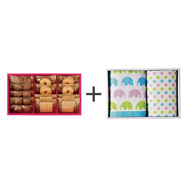 ラミ・デュ・ヴァン・エノ 焼菓子3種詰合せ+ジャカード織タオル2枚セット メイン画像