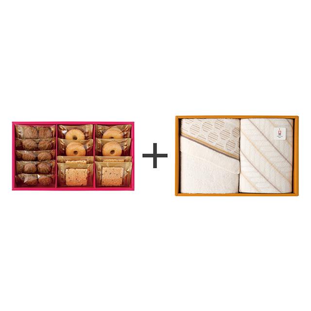 ラミ・デュ・ヴァン・エノ ラミ・デュ・ヴァン・エノ 焼菓子3種詰合せ+今治のタオル2枚セット