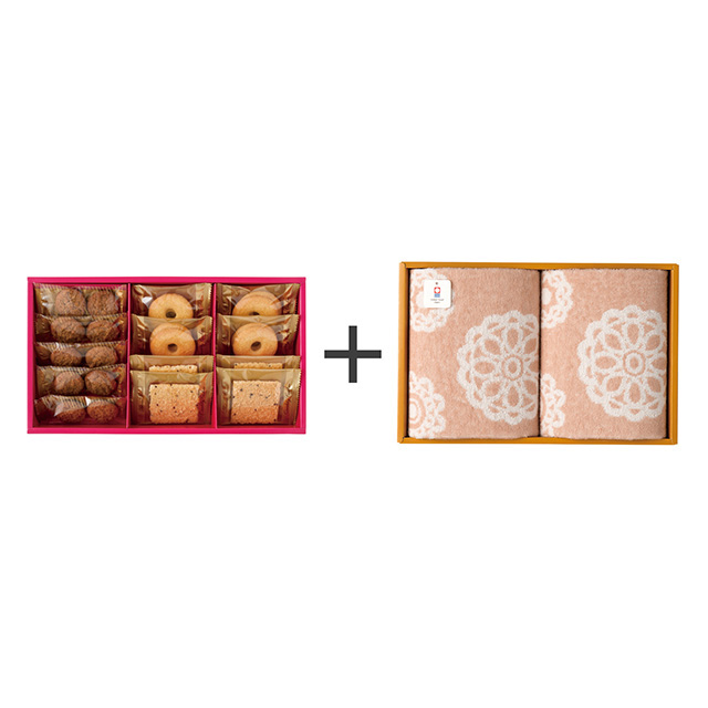 ラミ・デュ・ヴァン・エノ 焼菓子3種詰合せ+今治のウォッシュタオル2枚セット メイン画像
