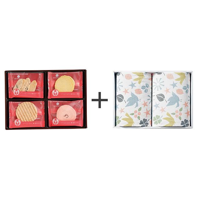 志ま秀 志ま秀 海老菓子12袋入+フェイスタオル2枚セット