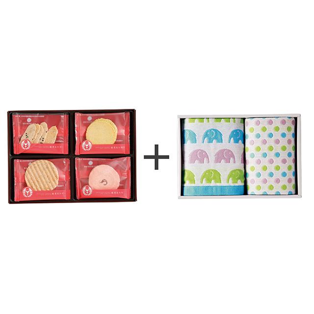 志ま秀 海老菓子12袋入+ジャカード織タオル2枚セット メイン画像