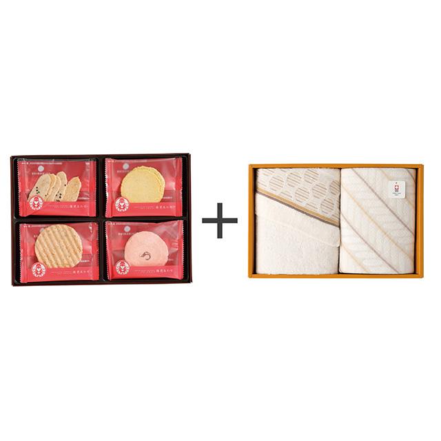 志ま秀 海老菓子12袋入+今治のタオル2枚セット メイン画像
