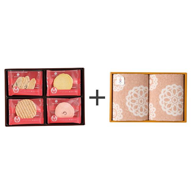 志ま秀 海老菓子12袋入+今治のウォッシュタオル2枚セット メイン画像