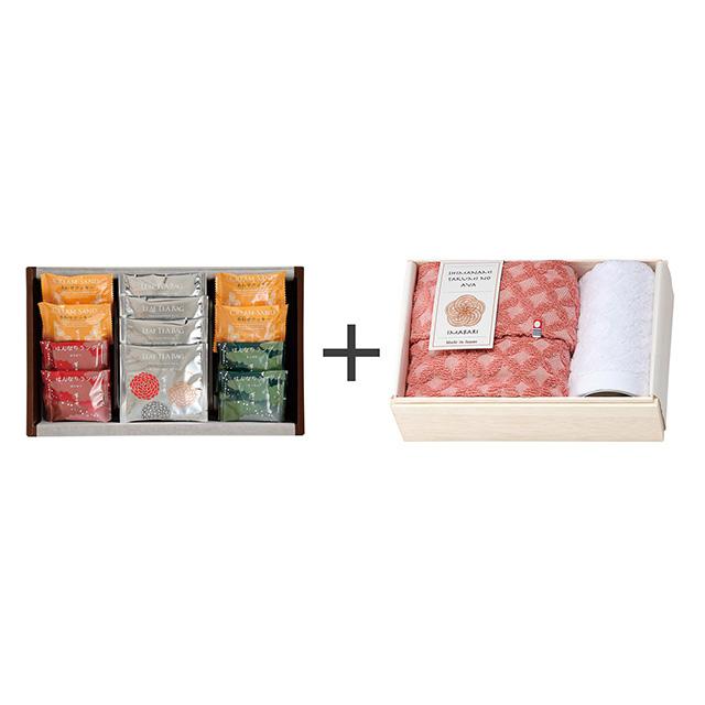 菊乃井 焼菓子8個&紅茶詰合せ+しまなみ匠の彩 祝七宝タオル2枚セット メイン画像