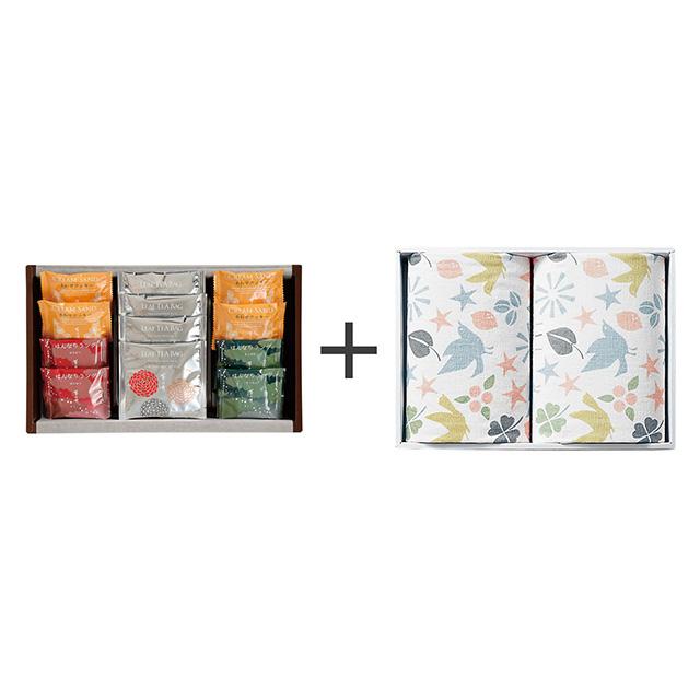 菊乃井 焼菓子8個&紅茶詰合せ+フェイスタオル2枚セット メイン画像