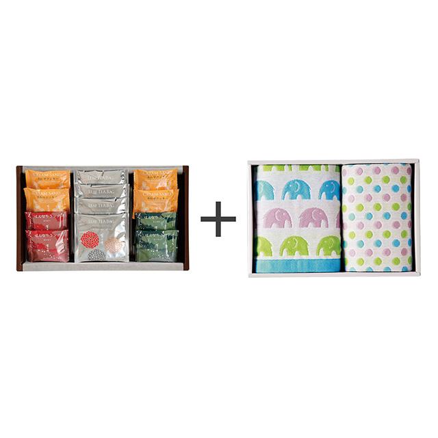 菊乃井 焼菓子8個&紅茶詰合せ+ジャカード織タオル2枚セット メイン画像