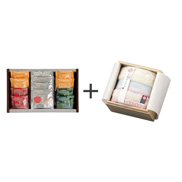 菊乃井 焼菓子8個&紅茶詰合せ+今治謹製 千歳はんかち アイボリー メイン画像