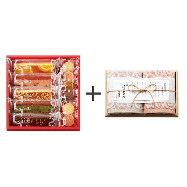 ひととえ ひととえ キュートセレクション+今治謹製 紋織タオル ウォッシュタオル2枚セット