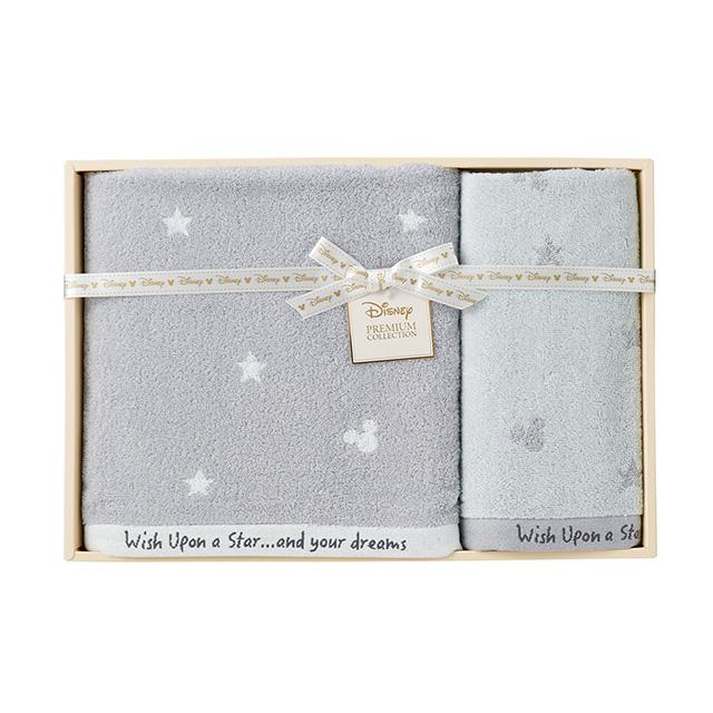 星に願いを タオル2枚セット グレー メイン画像