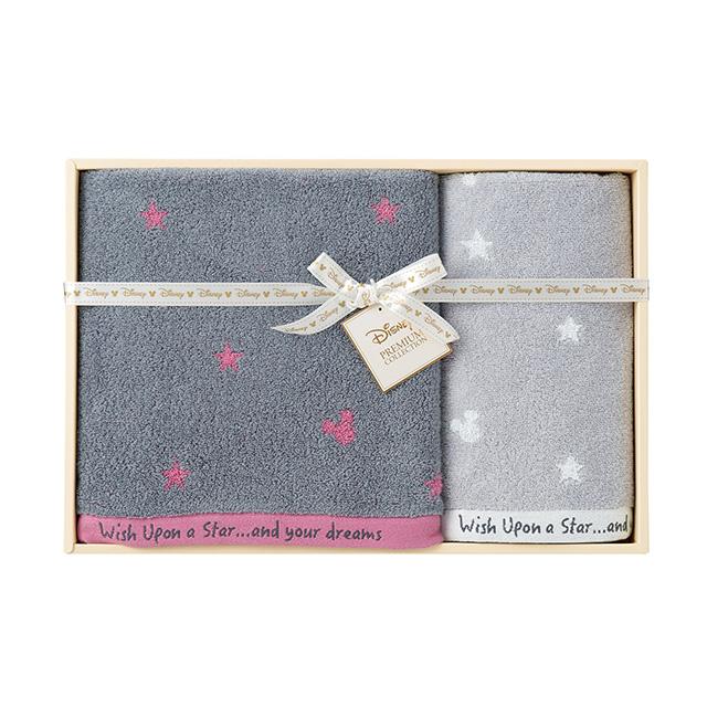 DISNEY 星に願いを タオル2枚セット ピンク