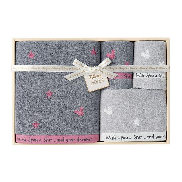 星に願いを タオル4枚セット ピンク メイン画像