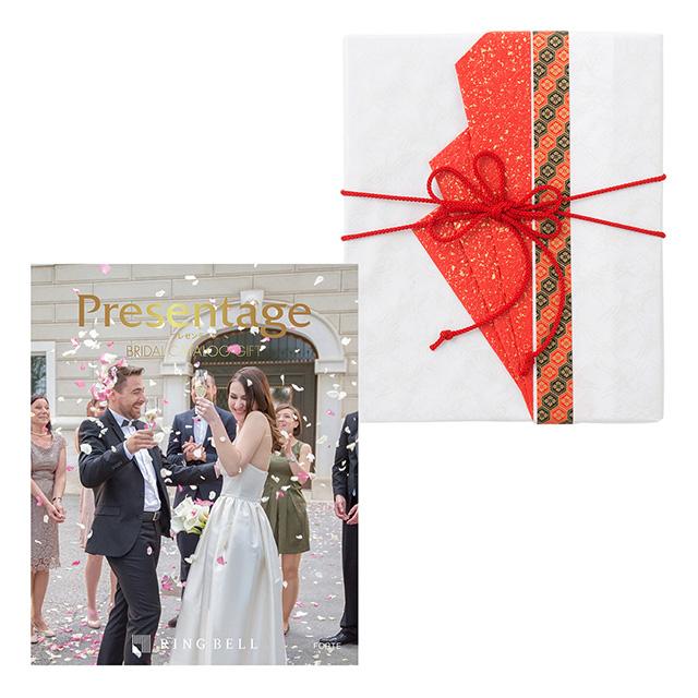 カタログ式ギフト プレゼンテージブライダル フォルテ+有料ラッピング(赤色の扇と飾紐) メイン画像