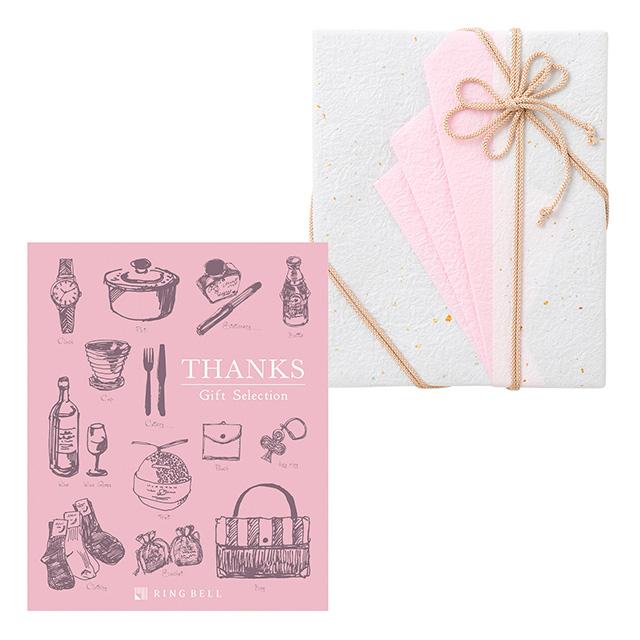 カタログ式ギフト サンクス Whip Pink・ホイップピンク+有料ラッピング(ピンクの扇と飾紐) メイン画像