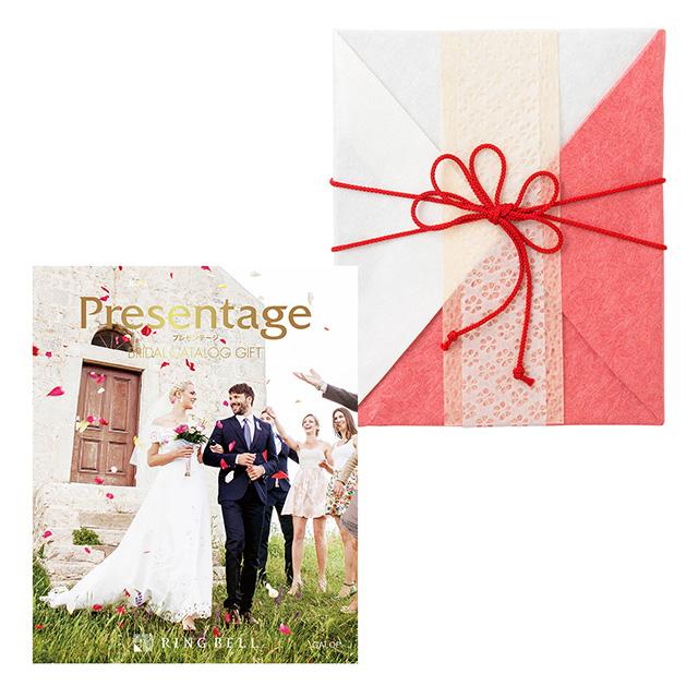 カタログ式ギフト プレゼンテージブライダル ギャロップ+有料ラッピング(紅白貼合せと飾紐) メイン画像