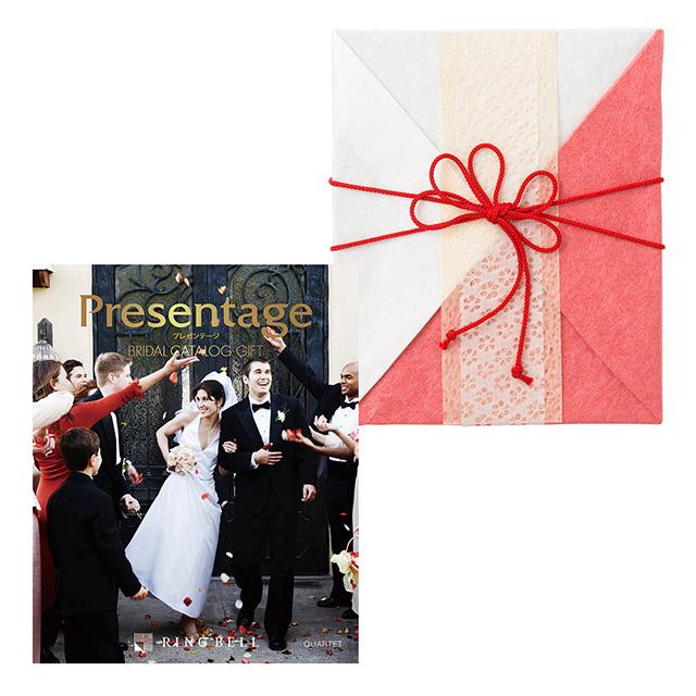 カタログ式ギフト プレゼンテージブライダル カルテット+有料ラッピング(紅白貼合せと飾紐) メイン画像