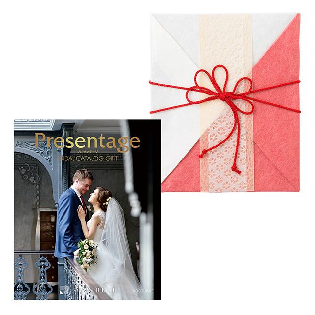 カタログ式ギフト プレゼンテージブライダル ノクターン+有料ラッピング(紅白貼合せと飾紐) メイン画像
