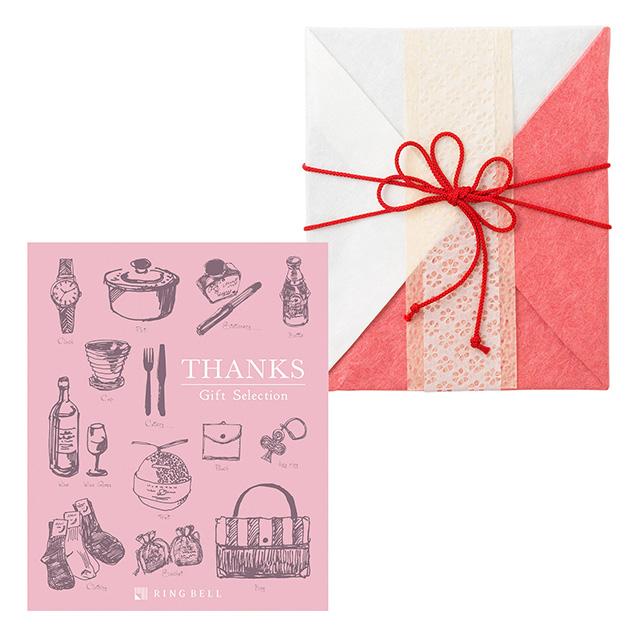 カタログ式ギフト サンクス Whip Pink・ホイップピンク+有料ラッピング(紅白貼合せと飾紐)
