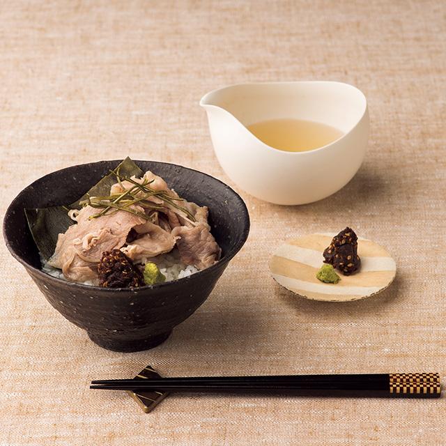 京都岩崎 京都牛の昆布〆だし茶漬け メイン画像