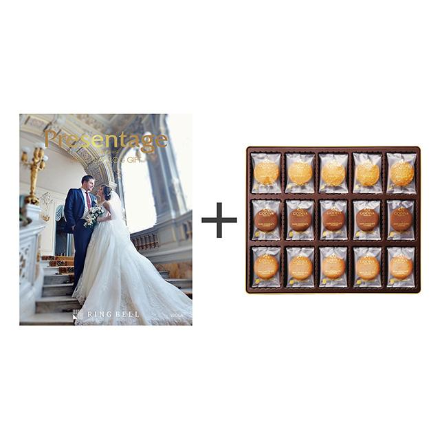 カタログ式ギフト プレゼンテージブライダル ビオラ+ゴディバ クッキーアソートメント55枚入 メイン画像