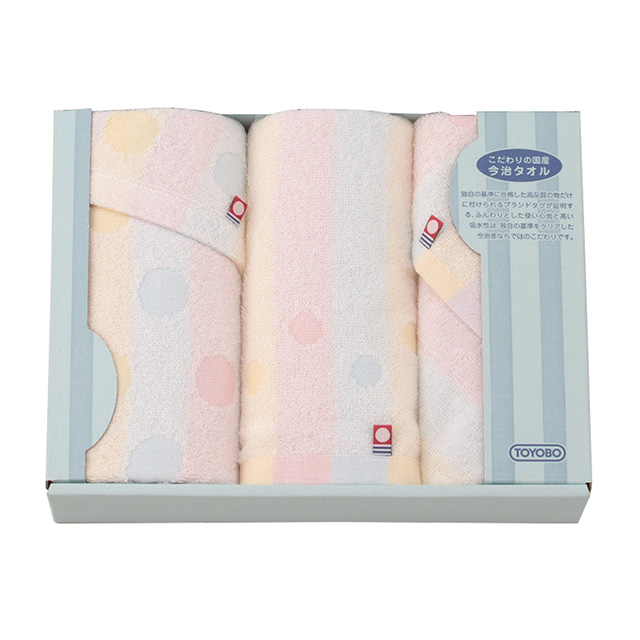 にじいろわた織り タオルセット メイン画像