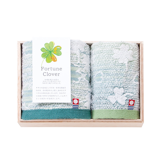 Fortune Clover タオル2枚セット(木箱入) メイン画像